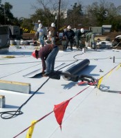 Roofing Contractors, Single Ply